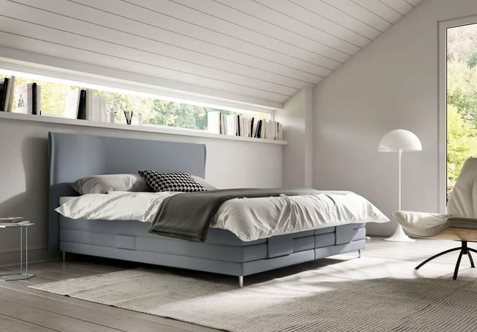 superba boxspring bett. Black Bedroom Furniture Sets. Home Design Ideas