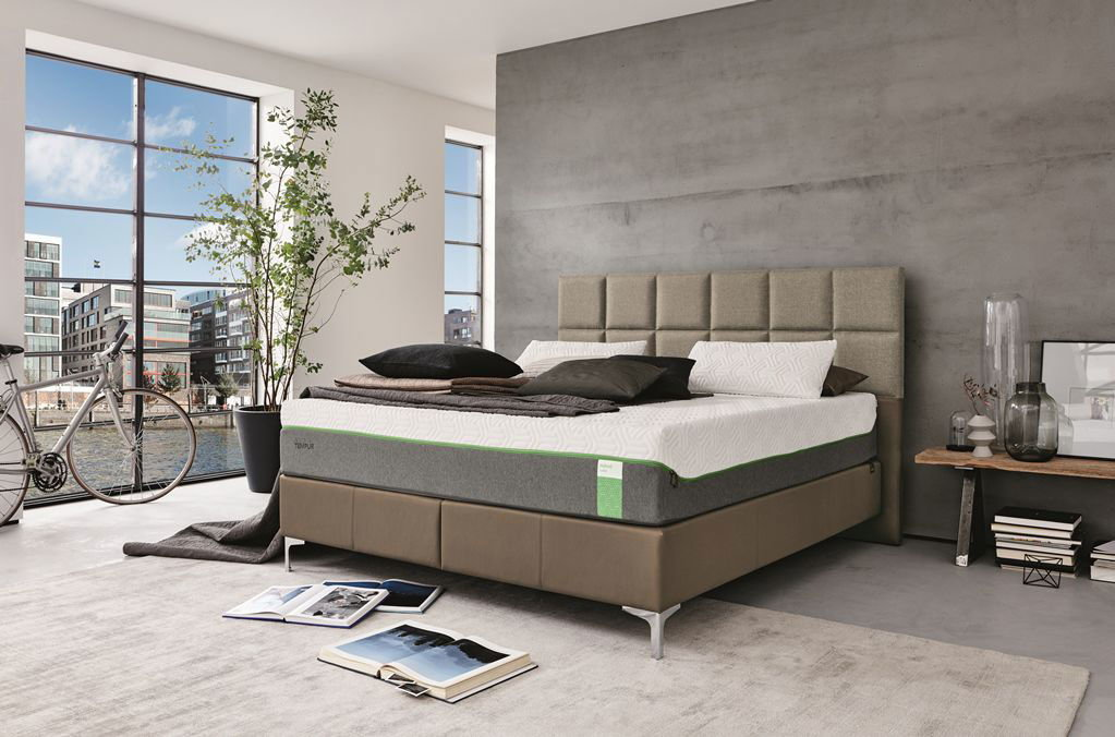 tempur boxspring bett. Black Bedroom Furniture Sets. Home Design Ideas