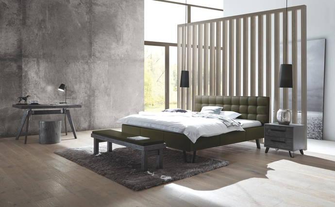 Hasena Dream Line Deluxe Polster Bett In Leder